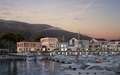The well protected marina is a key element of the resort plans. It will be open all year round and offer 220 berths for yachts up to 80m in length.